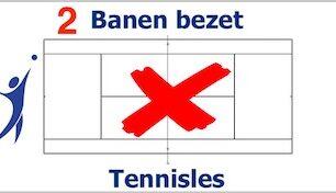 Dinsdag tennisles op twee banen