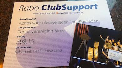 Rabo Club Support: Stem op TV Sleen